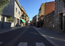 Calle de la huerta de Moralzarzal