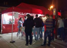 Carpa de Cruz Roja instalada en Moralzarzal