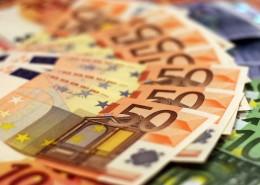 Billetes extendidos de 50 euros