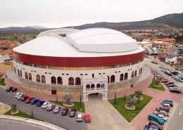 Vista aérea de la Plaza de Toros de Moralzarzal