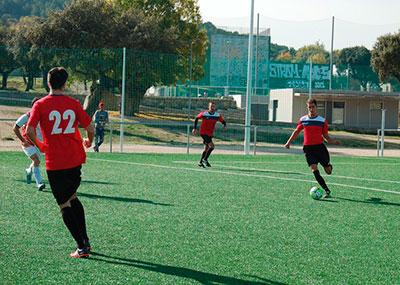 Partido de fútbol 7 en Moralzarzal