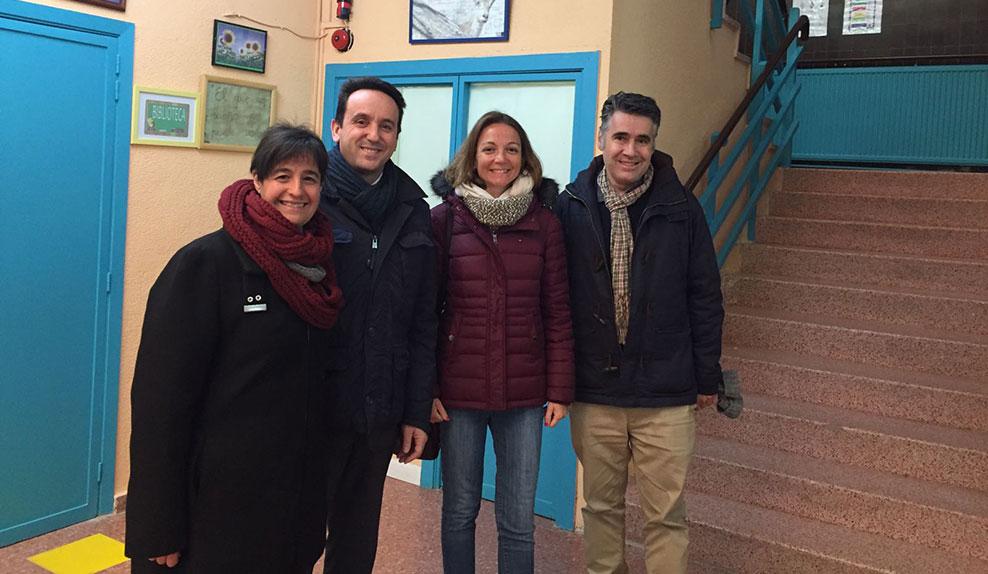 La Diputada de Cs junto al alcalde de Moralzarzal