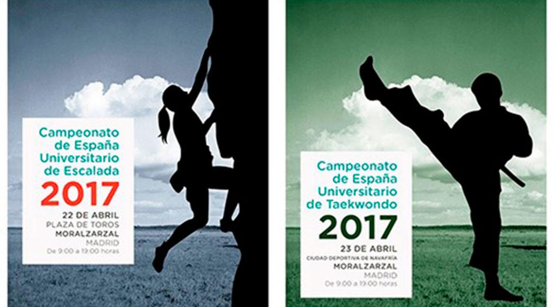 Carteles de las competiciones a celebrar en Moralzarzal