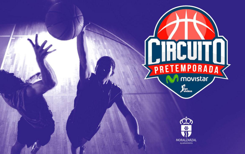 Logo del Circuito ACB En Moralzarzal con dos jugadores disputando un balón