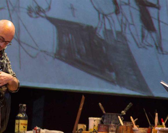 Alberto Jiménez y Jordi Rebellón en una escena de la obra El Pintor de Batallas