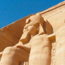 Detalle de una estatua egipcia