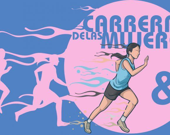 Ilustración de una mujer corriendo
