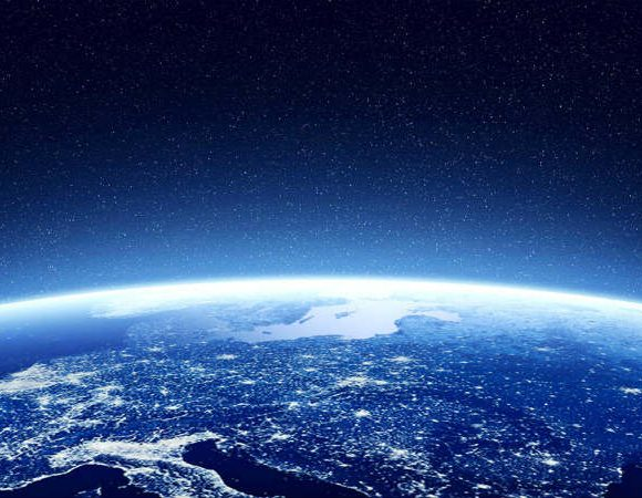 Vista exterior del planeta Tierra