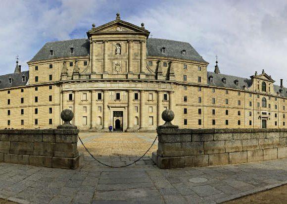 Vista panorámica de la Monasterio de El Escorial