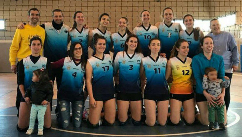 El Equipo de voleibol femenino Dragons de Moralzarzal