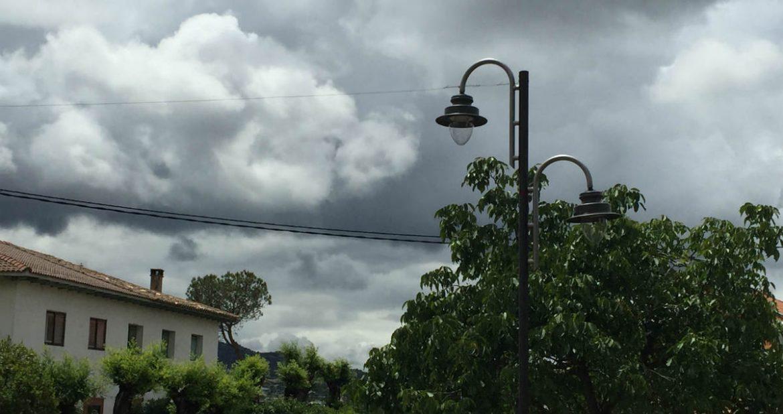 Una farola de una calle de Moralzarzal