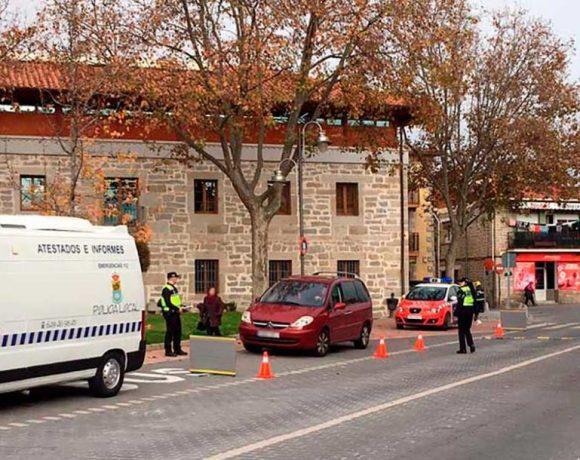 Un control de alcoholemia de la policía local de Moralzarzal