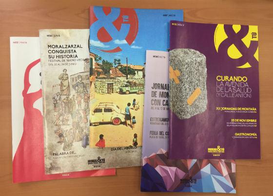 Varios números de la revista municipal de Moralzarzal