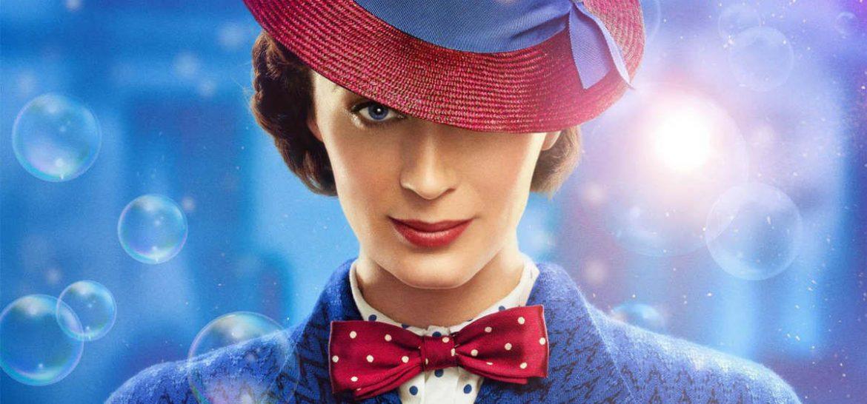 La actriz Emily Blunt caracterizada como Mary Poppyns