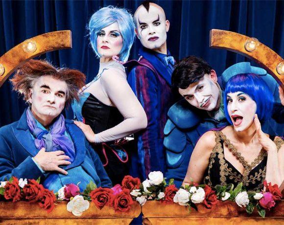 Cartel promocional del espectáculo con sus cinco protagonistas