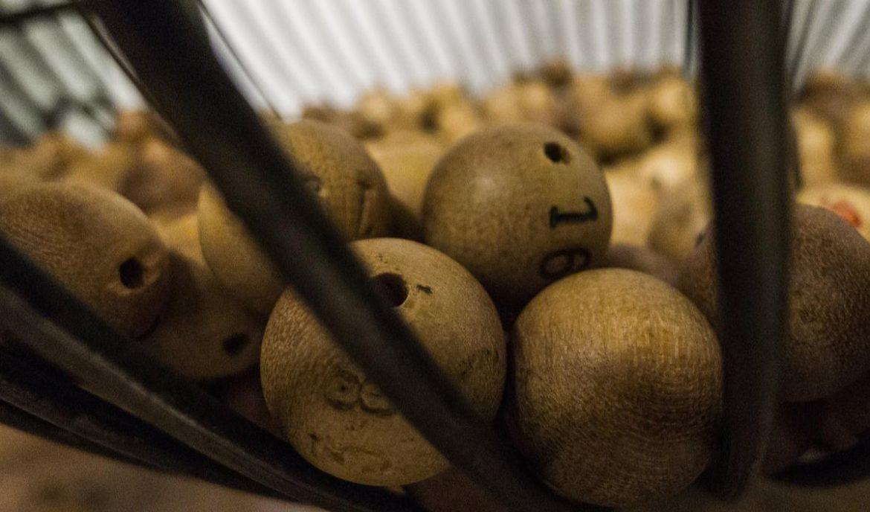 Bolas numeradas de un sorteo