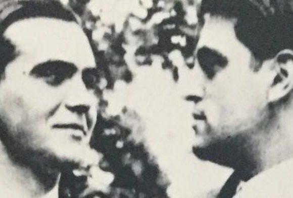 García Lorca en una imagen con Severo Ochoa