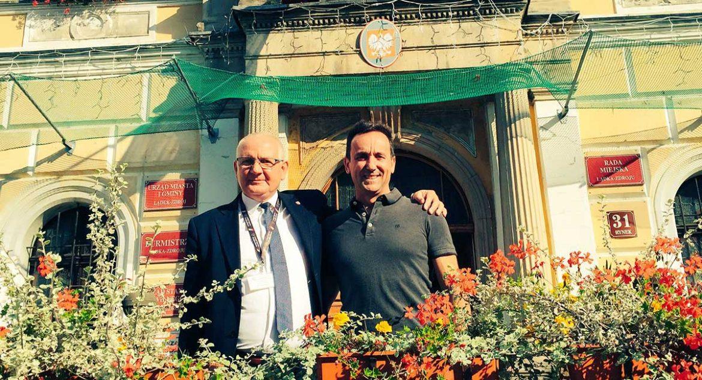 El alcalde de Ladek y el de Moralzarzal