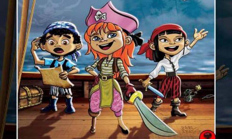 Ilustración de niños disfrazados de piratas
