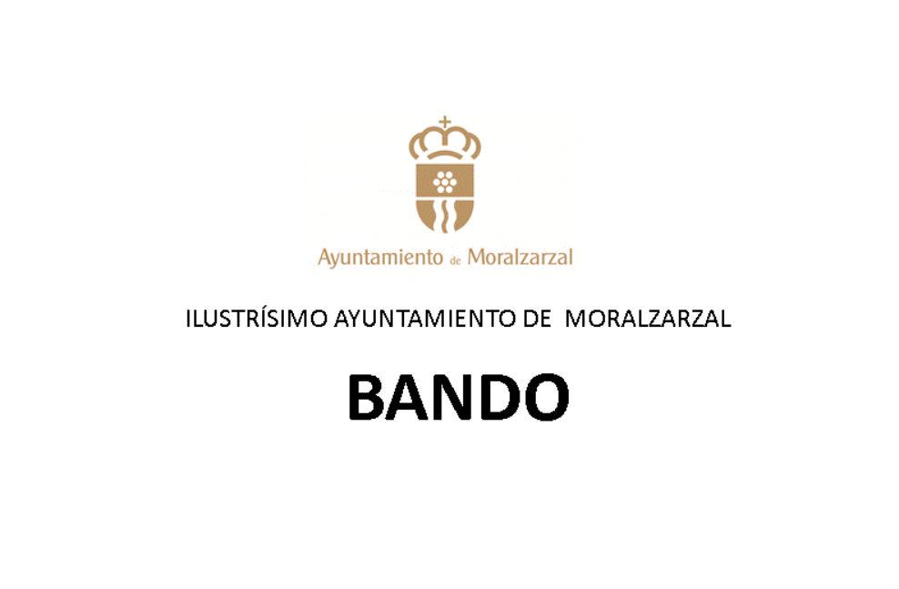 Encabezamiento bando municipal de Moralzarzal