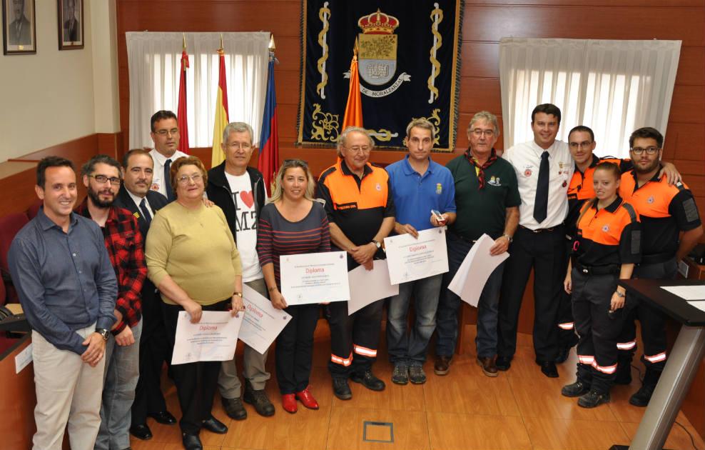 Los voluntarios de Protección Civil homenajeados