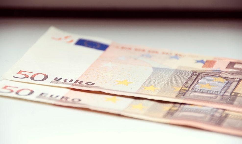 Dos billetes de 50 euros