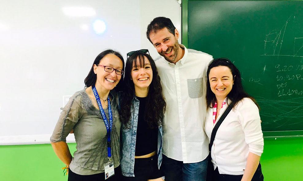 Alicia alonso, Directora del colegio Laude Fontenebro, Rafael Alonso, coordinador de Bachiller, Blanca Lacruz y su madre Mónica