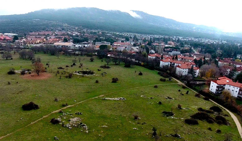 Vista aérea de la Dehesa Vieja de Moralzarzal