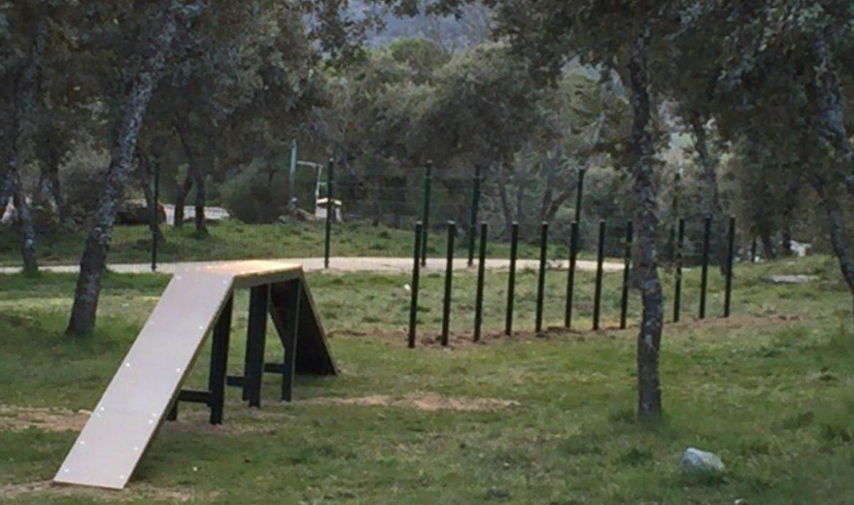 Un parque de esparcimiento canino en Moralzarzal