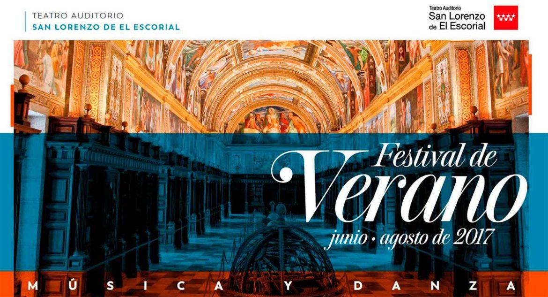 Cartel Festival Verano Auditorio San Lorenzo de El Escorial