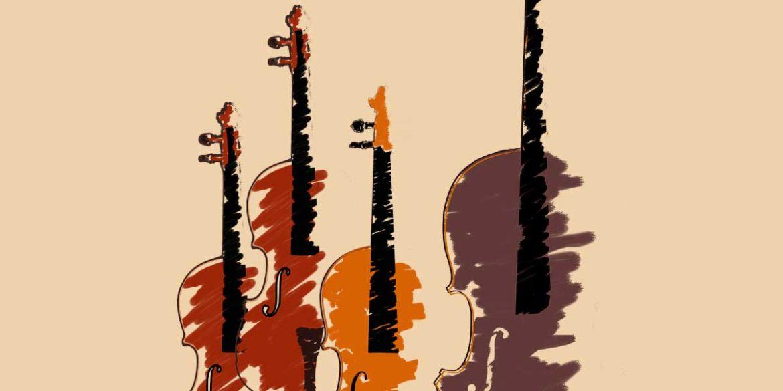 Ilustración d instrumentos de cuerda