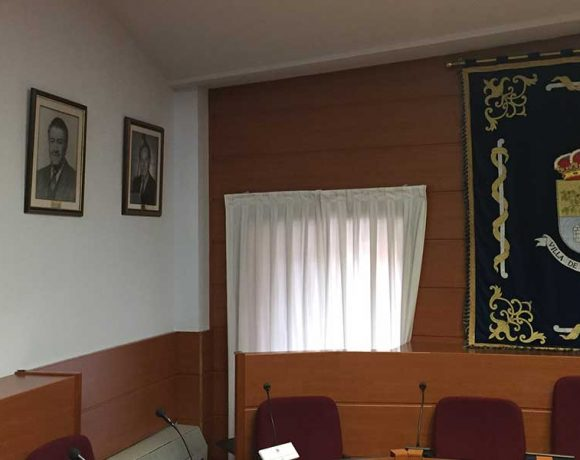 Detalle del Salón de Plenos de Moralzarzal