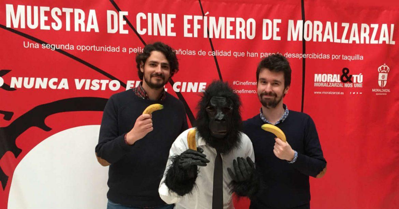 El equipo de Selfie con el gorila de la Muestra de Cine Efímero