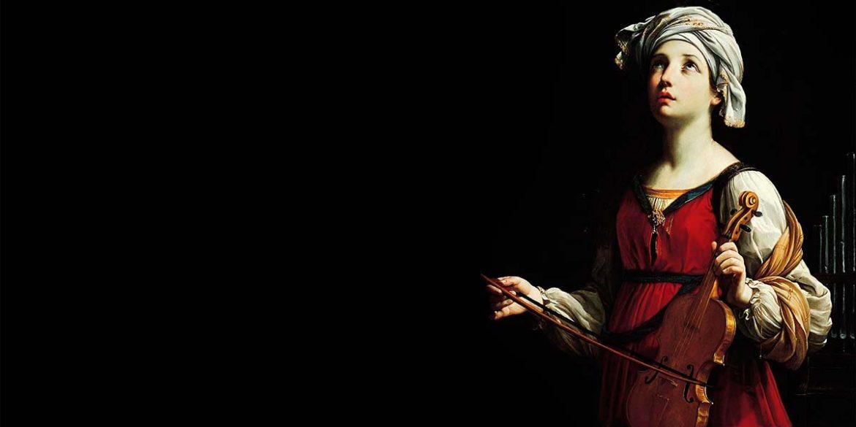 Imagen de Santa Cecilia con un violín