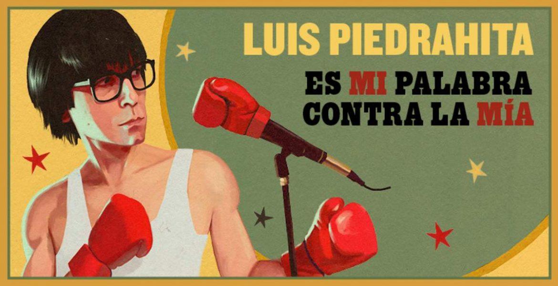 Ilustración de Luis Piedrahita con guantes de boxeo