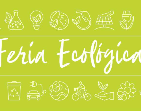 Cartel verde con iconos ecológicos