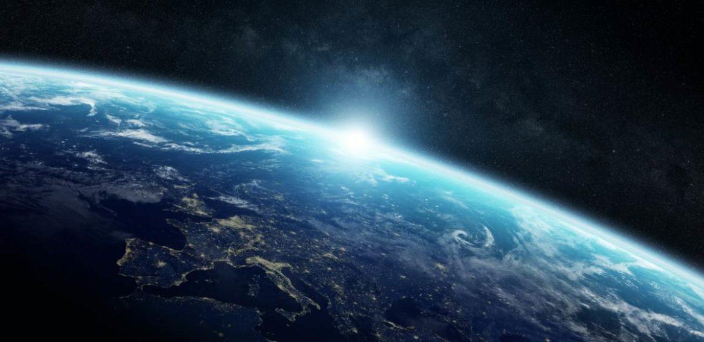 La tierra vista desde el exterior