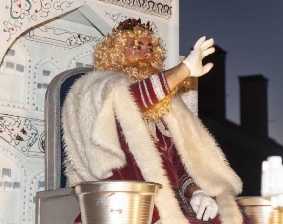 El Rey Gaspar en una Cabalgata de Moralzarzal