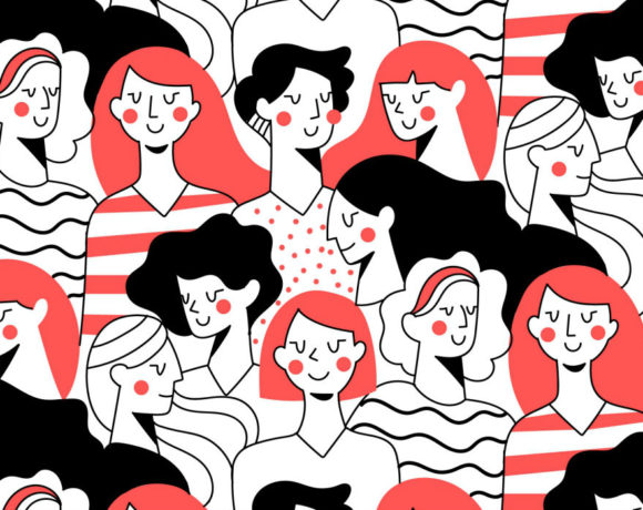 Ilustración de un grupo de mujeres
