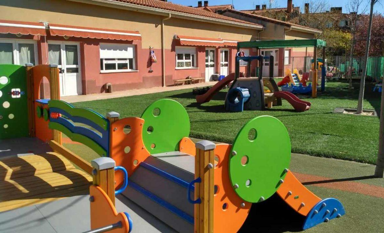 Detalle del patio de juego de la Casita de Niños de Moralzarzal