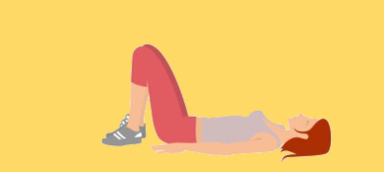 Ilustración mujer haciendo ejercicio en el suelo