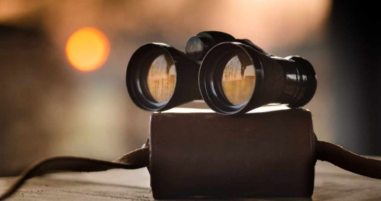 Unos prismáticos
