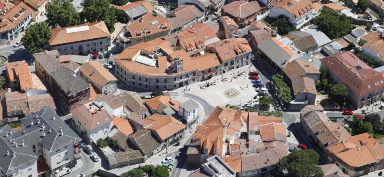Vista aérea del centro de Moralzarzal