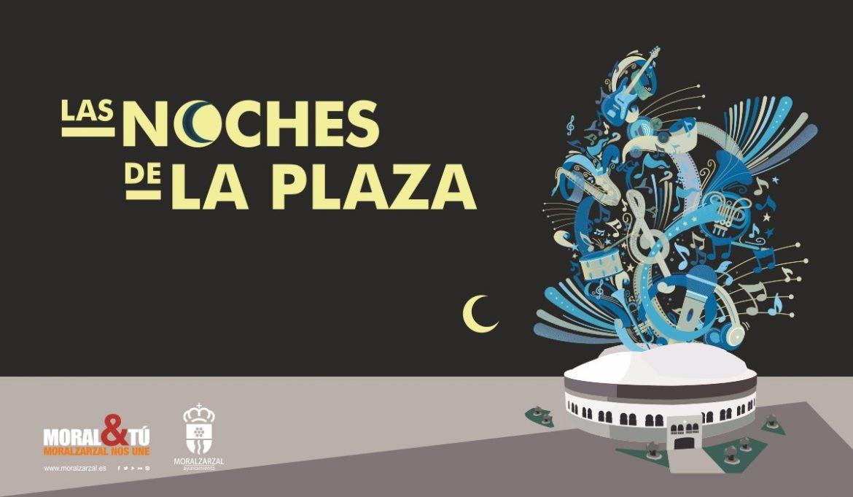 Cartel con una ilustración de la plaza de Moralzarzal