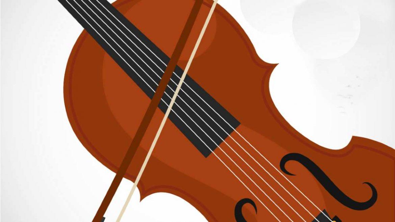 Ilustración de un violín