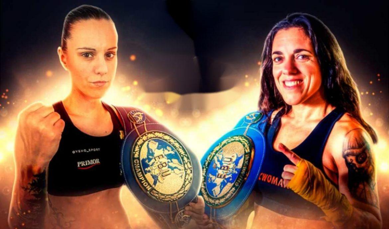 Cartel del combate de Joana Pastrana y Catalina Díaz