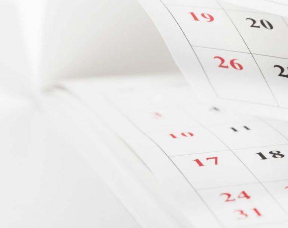 Páginas de un calendario