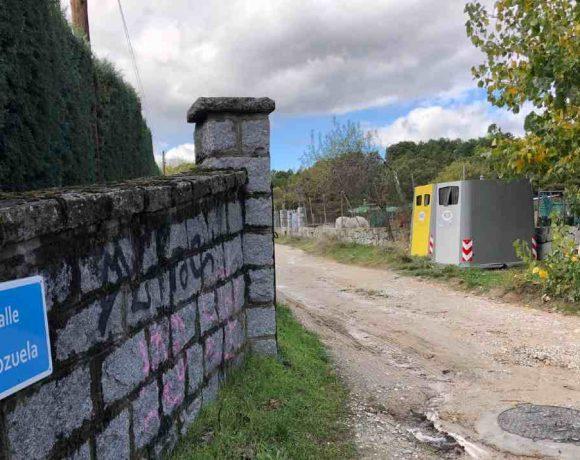 Entrada a la calle Chozuela de Moralzarzal antes de las obras de saneamiento