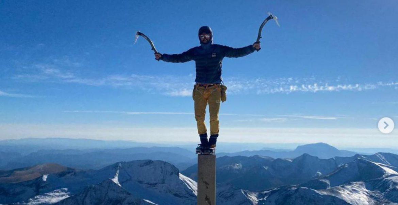 El alpinista Jonatan García en El Aneto