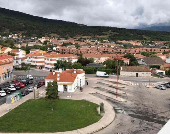Vista aérea de la estación de autobuses de Moralzarzal